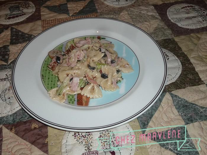 salade pâtes chaudes