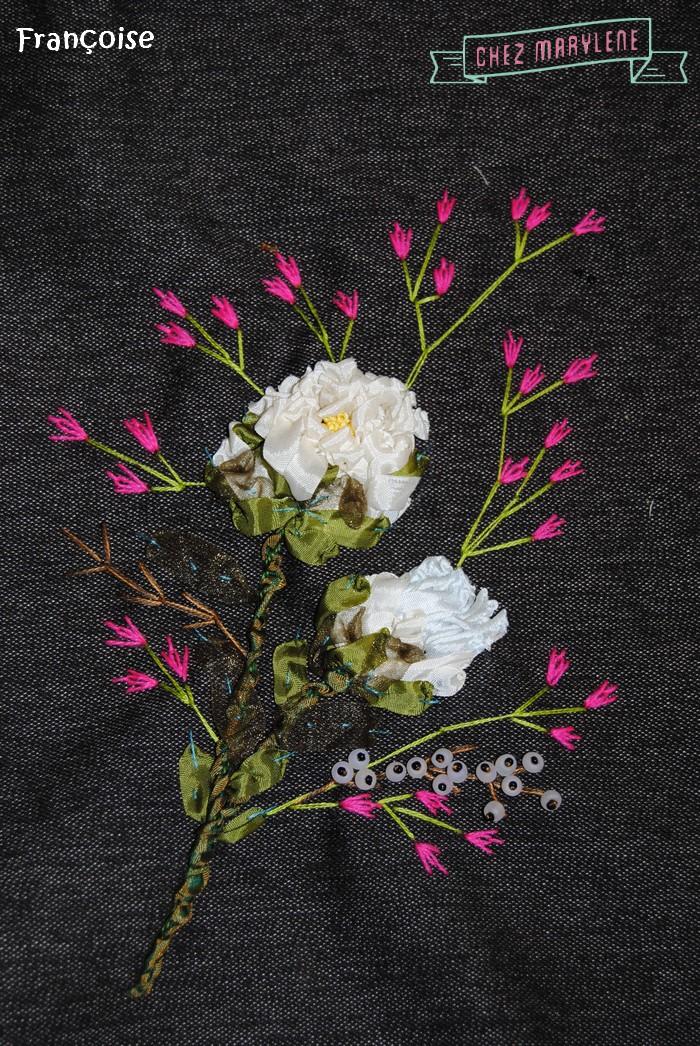 fleurs roses brodées (5)
