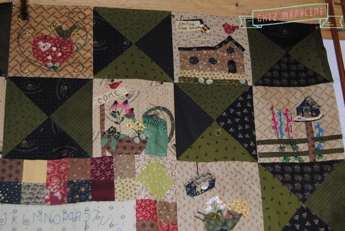 Atelier patchwork point compt histoire de moineau for Jardin 4 moineaux