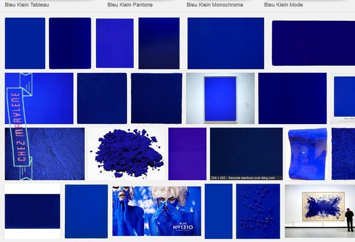 Bleu Klein Atelier Patchwork Point Compte